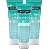 Kit 3 Esfoliante Facial Neutrogena Purified Skin 100G