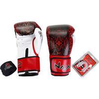 Kit Naja Luva Boxe/ Muay Thai Animal Print Cobra Luva Boxe 12 Oz + Bandagem + Protetor Bucal - Unissex