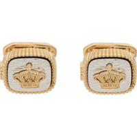 Dolce & Gabbana Abotoaduras De Coroa - Dourado