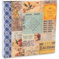 Álbum Scrapbook 23X23Cm Amarelo - Ical - Un
