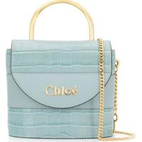 Chloé Abby Embossed Shoulder Bag - Azul