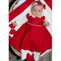Saída De Maternidade Menina Carinhosa Sônia Enxovais Princesa Pérola Vermelha