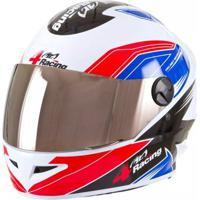 Capacete 4 Racing (+ Viseira Cromada) Vermelho/Azul | 56 Pro Tork - Cap-377Vmaz