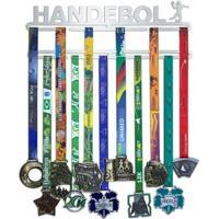 Porta Medalhas Handebol Feminino - Feminino-Prata
