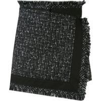 Sacai Frayed-Edged Wrap Mini Skirt - Preto