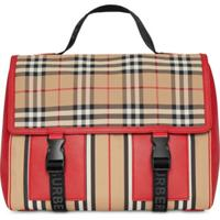Burberry Kids Vintage Check And Icon Stripe Nylon Backpack - Neutro