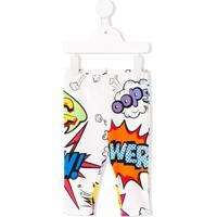 Dolce & Gabbana Kids Legging Com Estampa Comic - Branco