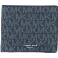 Michael Kors Collection Carteira Greyson Com Logo - Azul