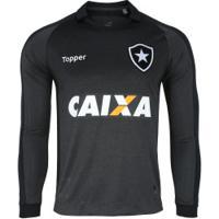 Camisa Manga Longa Do Botafogo Ii 2017 Topper - Masculina - Cinza/Preto