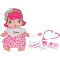 Boneca Moranguinho Baby Dodóizinha Com Acessórios - Feminino-Rosa+Branco