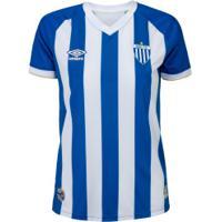 Camisa Do Avaí I 2020 Umbro - Feminina - Azul/Branco