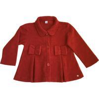 Casaco Tweed Bebê Feminino Tóing Vermelho