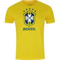 Camiseta Do Brasil Logo 19 - Masculina - Amarelo