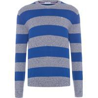 Sweater Masculino Rugby Stripe - Azul