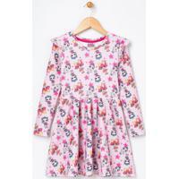 Vestido Infantil Estampado Lol - Tam 4 A 12