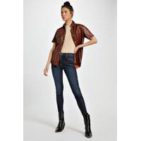 Calca Jeans Basic Skinny Midi Resina Gloss Jeans - 36