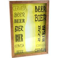Quadro Prolab Gift Porta Tampas E/Ou Lacres Beer Tabaco