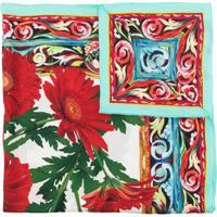 Dolce & Gabbana Lenço Com Estampa Floral De Seda - Colorido