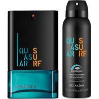 Combo Quasar Surf: Des. Colônia + Desodorante Aerosol