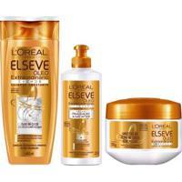 Kit L Oréal Paris Elseve Óleo Extraordinário Cachos 1 Shampoo 400Ml 1 Tratamento 300G 1 Creme 250Ml - Unissex-Incolor