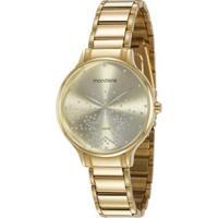Relógio Mondaine Cristais 53862Lpmvde2 38Mm Aço Feminino - Feminino-Dourado