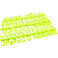 184 Letras E Números Para Mural Letreiro Letter Board - Verde L3 Store
