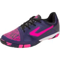 Chuteira Top Velocity Extra Jr Futsal Topper - 4203625266 Roxo 34