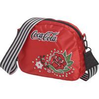 Bolsa Transversal Coca Cola Vintage Rose Vermelha