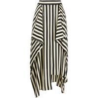 Loewe Stripe Panel Asymmetric Skirt - Neutro