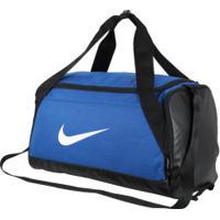 Mala Nike Brasilia Duffel Small - 40 Litros - Azul/Preto