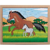 Conjunto De Quebra-Cabeças Animais & Filhotes Cavalo- Becarlu