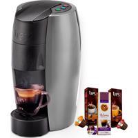 Máquina De Café Espresso Tres Lov Prata Semi Fosca 220V Grátis 3 Caix