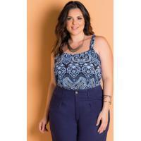 Blusa Alças Largas Plus Size Cashmere