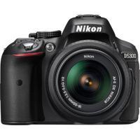 Câmera Nikon D5300 24.2Mp Lente Af-P Dx 18-55Mm Vr Preto