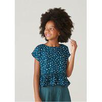 Blusa Infantil Menina Estampada Em Tecido Texturizado Mini Me