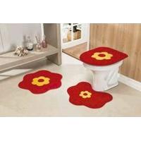 Jogo De Tapete Para Banheiro Margarida Standard 3 Peças