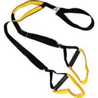Fita De Suspensão Trx Para Treinamento Suspenso Amarelo Natural Fitness - Unissex-Preto+Amarelo