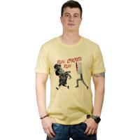 Camiseta Perplex Run, Chicken Run! Amarelo