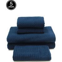 Jogo De Banho Gigante Buddemeyer Yumi 5Pçs Azul