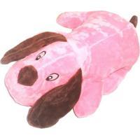 Brinquedo Doguinho- Rosa & Marrom- 10X5Cm- 4 Pat4 Patas