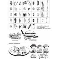 Carimbos Pedagógicos Edu Alimentar (Mod. Refeicoes Interativo) - 42 Peças - Carlu - Kanui