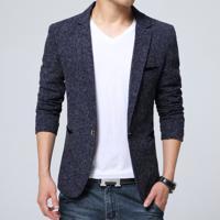 Blazer Masculino Com Riscas - Azul Escuro Pp