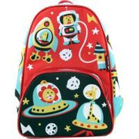 Mochila Ó Design Baby Espacial Vermelha