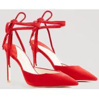 Scarpin Amarração Color Vermelho Madri - 39