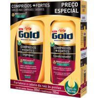 Kit 1 Shampoo Niely Gold Compridos Fortes - 300Ml 1 Condicionador Niely 200Ml - Unissex-Incolor