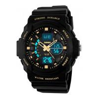 Relógio Skmei Infantil -0955- Preto E Dourado