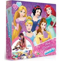 Quebra-Cabeça Grandão - Princesa Disney - 48 Peças - Jak - Feminino-Incolor