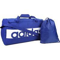 Mala Adidas Linear Performance - Unissex-Azul+Branco