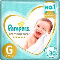 Fraldas Pampers Premium Care Tamanho G 30 Tiras