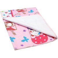 Cobertor Bebê Feminino Antialérgico Rosa Ursa No Balão - Bambi - Tamanho Único - Rosa
